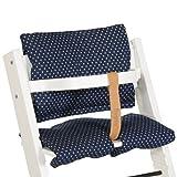 Treppy 1031 Kissen zum bequemen Sitzen, Cushion Stars Denim, blau