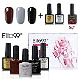 Elite99 UV LED Nagellack set uv gel shellac set sock off gel peer off nagellack uv farbgel gel...