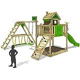 FATMOOSE Kinder-Kletterturm RockyRanch Roll XXL mit schwingendem Surfbrett Spielturm Spielhaus auf...
