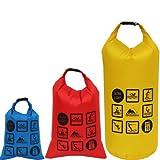 COX SWAIN 10+5+3 Liter Set Ultra leichte Pack-/Outdoor Säcke für Trekking-, Kanu-, Fahrradtouren...