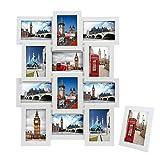 Songmics Bilderrahmen Collage für 12 Fotos je 10 x 15 cm (4 x 6') + 1 x einzelner Fotorahmen aus...