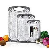 Masthome 3-teiliges Schneidebretter-Set aus Kunststoff, BPA-frei, mit Saftrillen, Verschiedene...