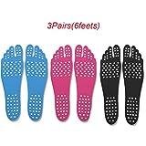 3Pairs (6 feet) unsichtbare Schuhe Non-Slip Beach, Sommer wie barfuß bevorzugt, stilvolle Anti-Skid...