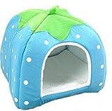 Cosanter weicher Kaschmir Warm Kuschelhöhle Haustier Nest mit Schöne Strawberry Muster, 26 × 26...