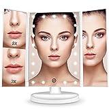 BESTOPE Schminkspiegel 1x/2x/3x Vergrößerung mit 21 LED Beleuchtet Kosmetikspiegel Hochwertig...