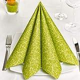 GRUBly Servietten GRÜN | Tissue-Servietten [50 Stück] | Grüne Servietten, Tischdekoration, ideal...