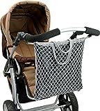 ASMi Kinderwagen-Einkaufstasche mit Innenfutter 'Clippi All Star' grau (40623)