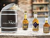 Cognac Geschenkset probierFass - 3 Cognac Klassiker verpackt in einem einzigartigen Holzfass -...