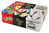 Mattel Spiele FFK01 - Kartenspiel-Klassiker in Metalldose: Uno Phase 10 und Snappy Dressers,...