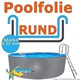 Poolfolie 3,00 x 0,92 m x 0,25 mm Schwimmbadfolie Innenhülle Auskleidung 3,0 m Ersatzfolie Pool 300...