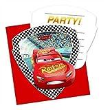 Procos 87802 6 Einladungen und Umschläge für Kindergeburtstag oder Motto-Party, CARS 3,...
