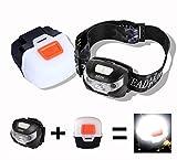 LED Stirnlampe / Kopflampe, Stirnlampe USB wiederaufladbar, 5 Lichtmodi / inklusive USB Kabel / LED...