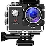 Victure Action Kamera 12MP 1080P FHD Sport Action Camera Cam Wasserdichte Helmkamera...