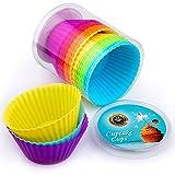 Premium Silikon Muffinförmchen von Insonder – 24 Cupcake Brownie Muffin Förmchen Set in 6 Farben...