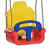 WICKEY Babyschaukel 3 in 1 Kleinkindschaukel Sicherheits-Babysitz Schaukelsitz mit Kipp-Schutz,...