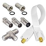 HB-DIGITAL Adapter-Set. 2 DVB-T/T2 Receiver mit nur einer aktiven DVB-T/T2 Antenne betreiben. Inkl....