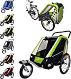 PAPILIOSHOP LEON Anhänger Kinderwagen 360° Drehbar Caddy für den Transport von 1 oder 2 Ein Zwei...