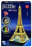 Ravensburger 125791 - Eiffelturm bei Nacht - 216 Teile Puzzle 3D-Puzzle-Bauwerk Night Edition