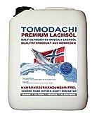 Lachsöl Hund 5 Liter kalt gepresst, BARF Zusatz Hund, Premium Lachsöl aus Norwegen, reines...