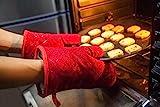 Aicok Ofenhandschuhe, Extrem Hitzebeständige Grillhandschuhe, Anti-Rutsch Backofen Handschuhe, zum...