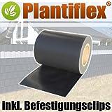 Sichtschutz Rolle 35m blickdicht PVC Zaunfolie Windschutz für Doppelstabmatten Zaun (Anthrazit)