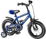 Kinderfahrrad Kanzone Hero 12 Zoll blau schwarz Jungen Fahrrad Rücktrittbremse Stützräder