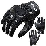 Motorradhandschuhe PROANTI Motorrad Handschuhe Sommer (Gr. XS - XXL, schwarz, kurz) - XL