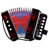 CAHAYA Akkordeon Ziehharmonika Solo und Tasteninstrument für Anfänger Erwachsene und Kinder...