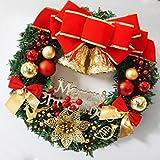 Jaminy Weihnachten Rot Bowknot Large Kranz Tür Ornament Verzieren 30 cm