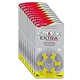 Rayovac Extra Advanced Zink Luft Hörgerätebatterie in der Größe 10 Pack (mit 60 Batterien...