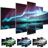 Bilder 200 x 100 cm - Polarlicht Bild - Vlies Leinwand - Kunstdrucke -Wandbild - XXL Format –...