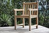 SAM® Teak-Holz Gartensessel Caracas, Gartenstuhl, Sessel mit Armlehnen, aus Massivholz, ideal für...