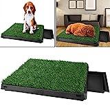 Sailnovo Hundeklo Hunde toilette echtem Rasen Welpentoilette Trainingsunterlage für kleine hunde...