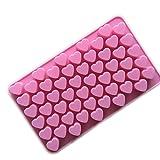 Xcellent Global Mini Herzform Silikon Eiswürfel / Schokoladen Gießform verschiedene Farben M-HG011