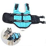 Zhang-Home Hunde-Schwimmwesten, Hunde-Rettungs-Weste, Hundeschwimm-Weste, Hinternjagdjacke, M (blau)