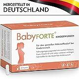 BabyFORTE Kinderwunsch • 60 Kapseln • 800 mcg Folsäure, Eisen & weitere Vitamine •...
