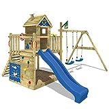 WICKEY Spielturm Smart Lodge 120 Kletterturm Baumhaus Garten mit Spielhaus, Doppelschaukel, großem...