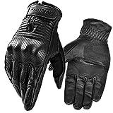 INBIKE Motorrad Handschuhe Herren Damen Sommer Echtes Leder Motorradhandschuhe Atmungsaktiv Und...