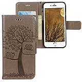 iPhone 7 Plus / 8 Plus Hülle, CLM-Tech Tasche aus Kunstleder Wallet Case - Apple iPhone 8 Plus...