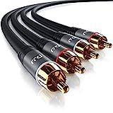 CSL - 0,5m 2x Cinch zu 2x Cinch Audiokabel | AUX Eingänge Audio 2x Cinch / RCA Stecker zu 2x Cinch...