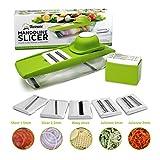 5-in-1 Kompakter Mandoline Gemüsehobel von Twinzee - Ideal zum Hobeln von Obst und Gemüse –...