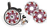 Rollstuhl Speichen Schutz Protektor Skins Zubehör SPIDER DESIGN 20' 22' 24' Mädchen Jungen &...