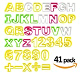 Fondant Buchstaben Ausstecher groß Ausstechform ilauke Modellierwerkzeug farbig Alphabet Zahlen...