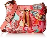 Oilily Damen S Shoulder Bag Umhängetasche, Pink (Pink Flamingo), 9x19x26 cm