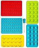 Gummibärchen Form Silikon Formen und Eiswürfelbereiter 6-Teiliges Set, Pralinenformen,...