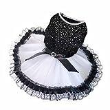 Tenchif Mode Welpen Haustier Hund Blingbling Prinzessin Hochzeit Rock Kleid