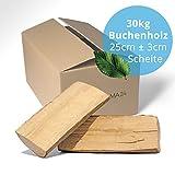 30 kg Brennholz Kaminholz Feuerholz reine Buche ofenfertig kammergetrocknet in 25cm