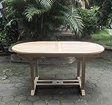 SAM® Garten-Tisch Aruba, Teak-Holz, Auszieh-Tisch (180 - 240 cm) mit Schirmloch, Terrassen-Möbel...