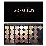 Makeup Revolution Schimmert und Matt Hautfarben Ultra 32 Lidschatten Eyeshadows Flawless Palette