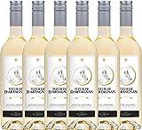 6er Paket - Fleur de d'Artagnan Blanc 2018 - Plaimont mit VINELLO.weinausgießer | trockener...